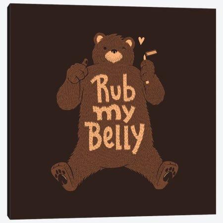Rub My Belly Canvas Print #TFA329} by Tobias Fonseca Canvas Wall Art