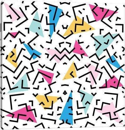 90's Dizzy Funky Colorful Pattern Canvas Art Print