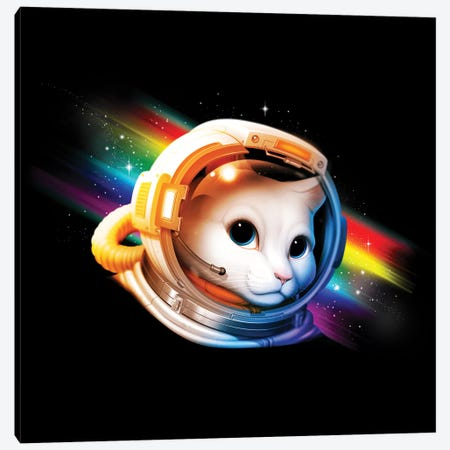Astronaut Cat Canvas Print #TFA340} by Tobias Fonseca Canvas Artwork