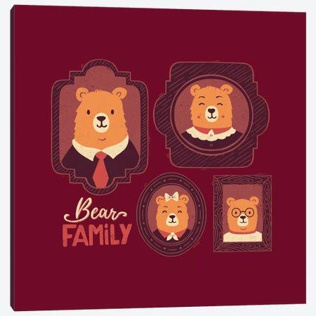 Bear Family Canvas Print #TFA342} by Tobias Fonseca Canvas Art