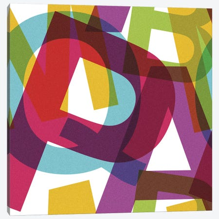 Crossletters Patterns Canvas Print #TFA343} by Tobias Fonseca Canvas Artwork