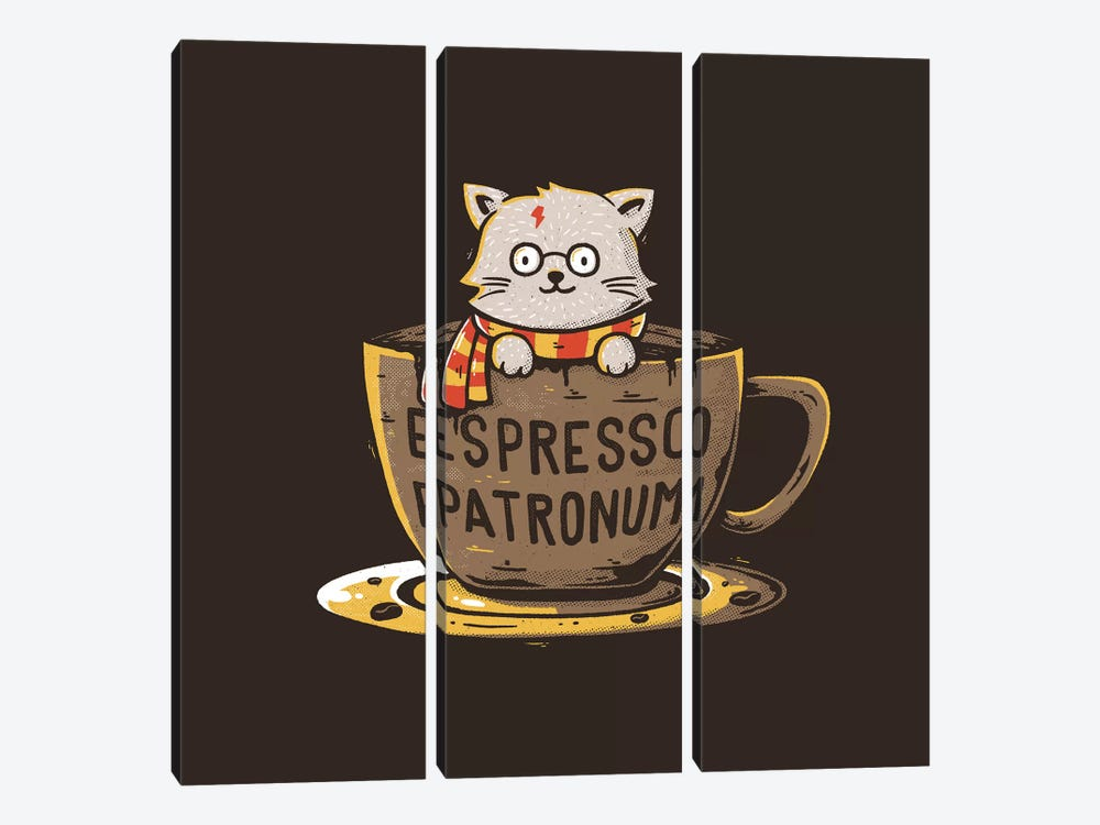 Espresso Patronum by Tobias Fonseca 3-piece Canvas Art