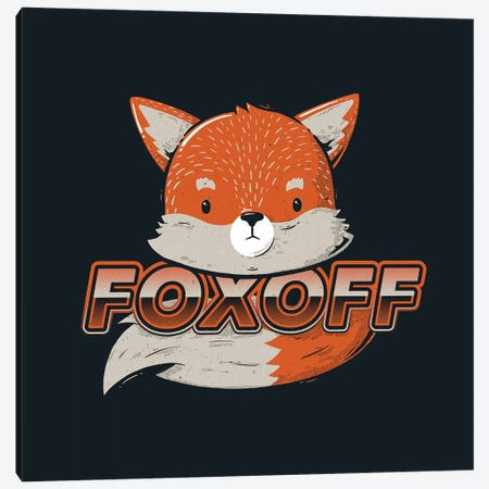 Foxoff Canvas Print #TFA348} by Tobias Fonseca Canvas Wall Art