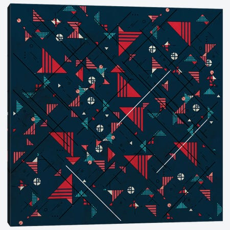 Geometric Abstract Red Pattern Canvas Print #TFA350} by Tobias Fonseca Art Print