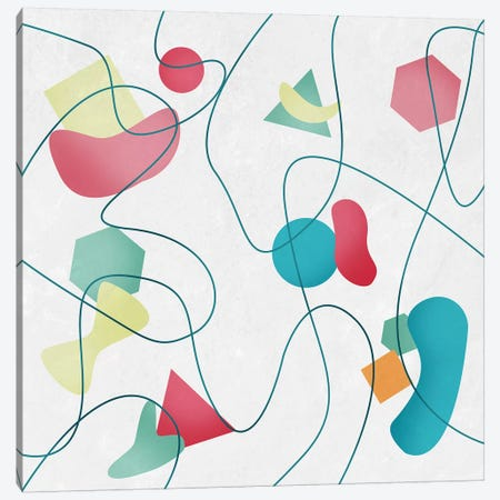 Geometric Miró Pattern Canvas Print #TFA351} by Tobias Fonseca Canvas Print