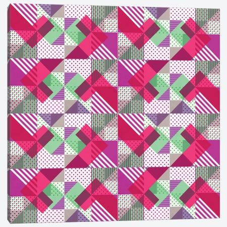 Geometric Polka Dots Petit Pois Neon Canvas Print #TFA352} by Tobias Fonseca Canvas Print