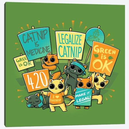 Legalize Catnip 3-Piece Canvas #TFA363} by Tobias Fonseca Canvas Artwork