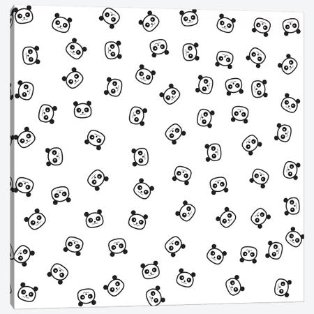Pandamonio Panda Pattern Canvas Print #TFA366} by Tobias Fonseca Canvas Print