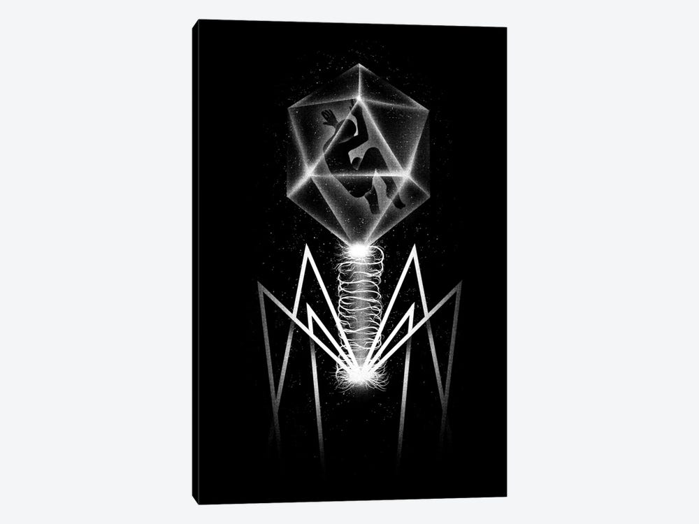 Bacteriophage by Tobias Fonseca 1-piece Canvas Wall Art