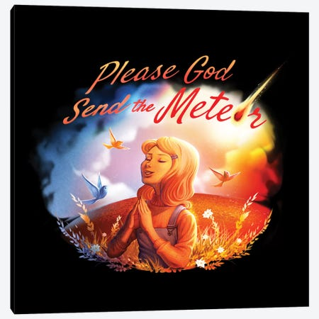 Please God Send The Meteor 3-Piece Canvas #TFA370} by Tobias Fonseca Canvas Print