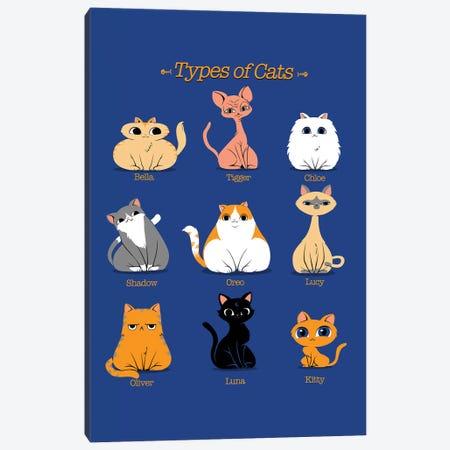 Types Of Cats Canvas Print #TFA379} by Tobias Fonseca Canvas Art Print