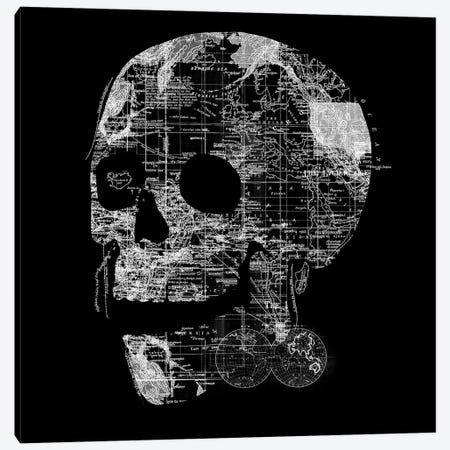 Skull Wanderlust Canvas Print #TFA387} by Tobias Fonseca Canvas Art Print