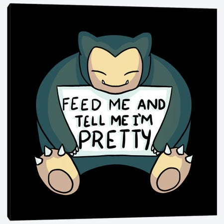 Feed Me Snrlx Canvas Print #TFA390} by Tobias Fonseca Canvas Art Print
