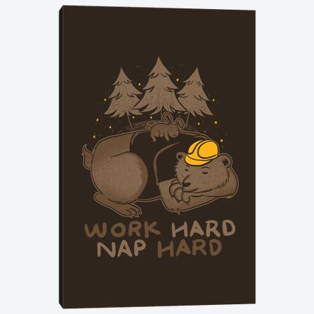 Work Hard Nap Hard Canvas Print #TFA392} by Tobias Fonseca Canvas Art Print