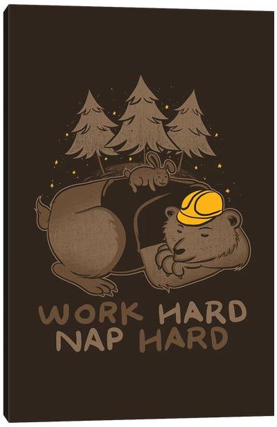 Work Hard Nap Hard Canvas Art Print