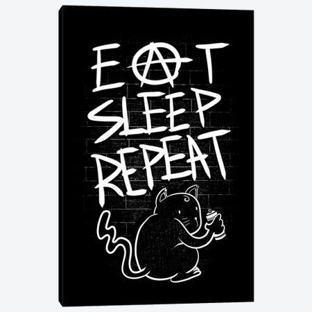 Eat Sleep Repeat Canvas Print #TFA394} by Tobias Fonseca Canvas Wall Art