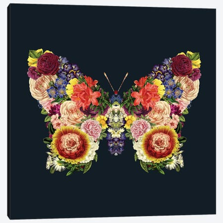 Spring Butterfly Floral Canvas Print #TFA404} by Tobias Fonseca Canvas Art