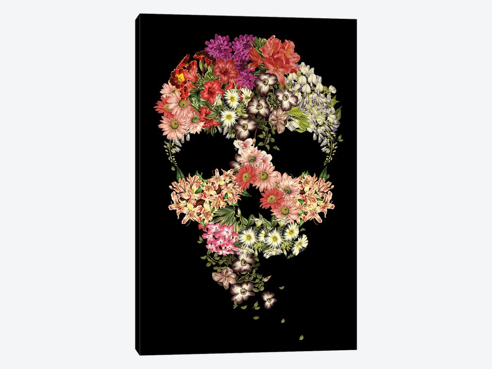 Skull Floral Decay by Tobias Fonseca 1-piece Canvas Artwork