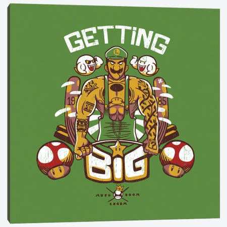 Getting Big Green 3-Piece Canvas #TFA423} by Tobias Fonseca Canvas Print