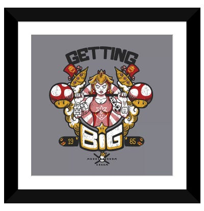 Getting Big Gray Framed Art Print