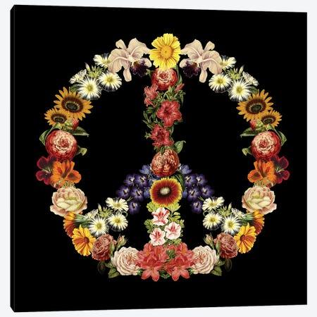 Flower Power Canvas Print #TFA426} by Tobias Fonseca Canvas Art