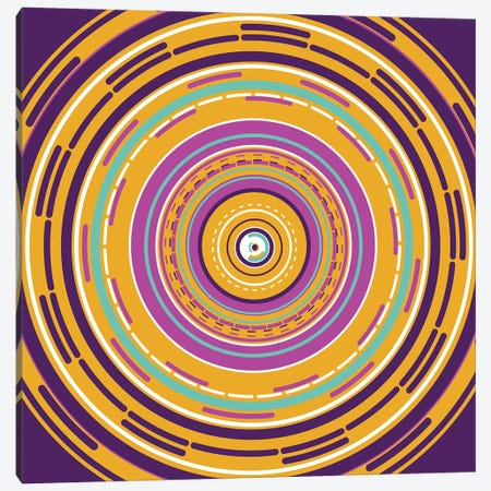 Psychedelic Tunnel Canvas Print #TFA427} by Tobias Fonseca Canvas Art
