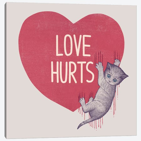 Love Hurts Canvas Print #TFA428} by Tobias Fonseca Art Print