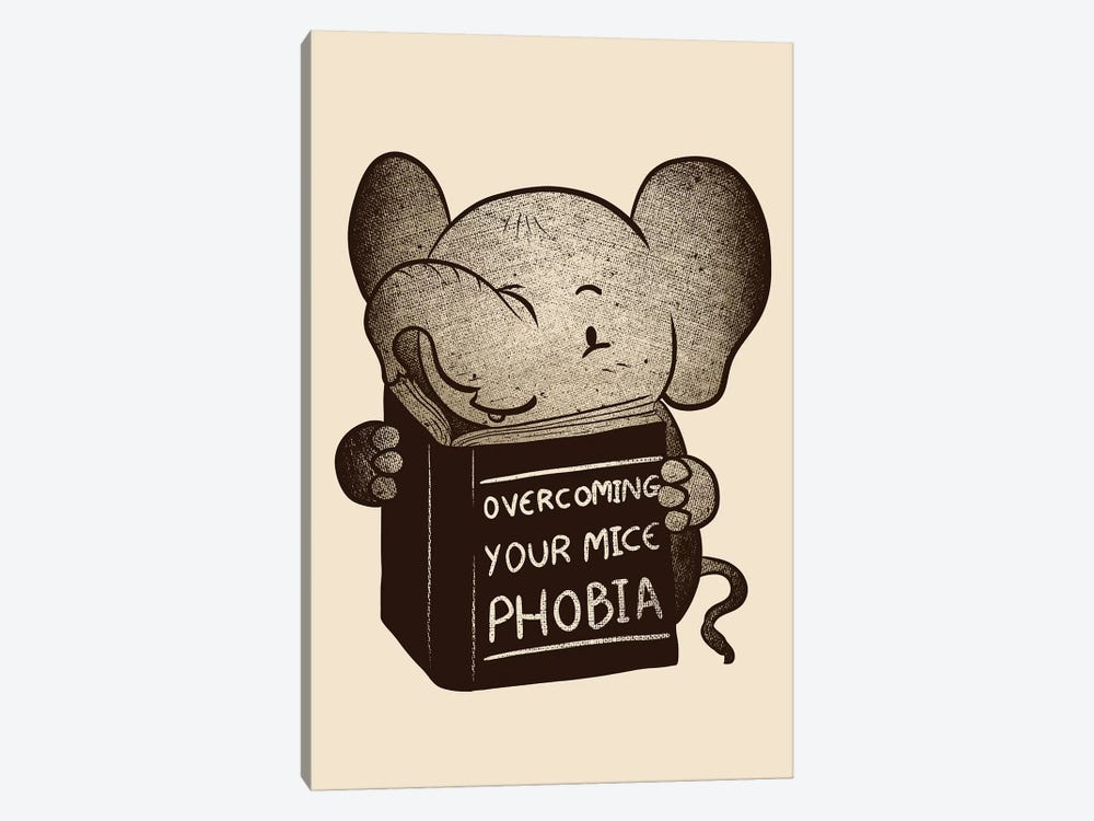 Elephant Overcoming Your Mice Phobia by Tobias Fonseca 1-piece Art Print