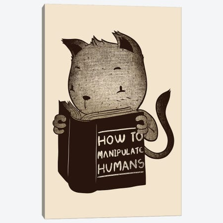 Cat How To Manipulate Humans Canvas Print #TFA437} by Tobias Fonseca Canvas Print