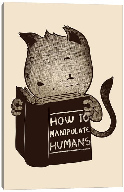 Cat How To Manipulate Humans Canvas Art Print