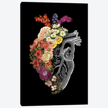Flower Heart Spring Canvas Print #TFA443} by Tobias Fonseca Canvas Art Print