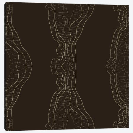 Disturbed Lines Canvas Print #TFA453} by Tobias Fonseca Canvas Artwork