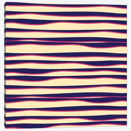 Funky Zebra Canvas Print #TFA454} by Tobias Fonseca Art Print