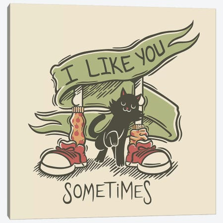I Like You Canvas Print #TFA458} by Tobias Fonseca Canvas Art