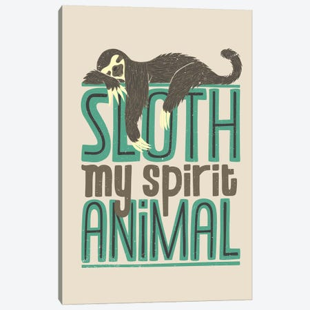 Sloth Is My Spirit Animals Canvas Print #TFA462} by Tobias Fonseca Canvas Art Print