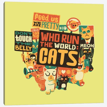 Who Run The World Cats 3-Piece Canvas #TFA466} by Tobias Fonseca Canvas Artwork