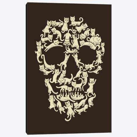 Catskull Canvas Print #TFA467} by Tobias Fonseca Canvas Artwork
