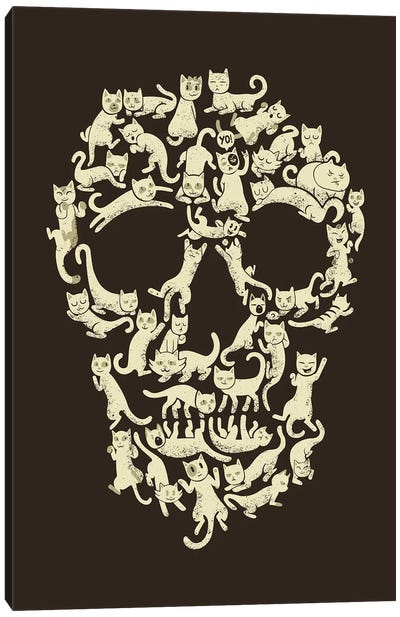 Catskull Canvas Art Print