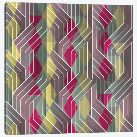 Decorative Pattern Triangles Canvas Print #TFA468} by Tobias Fonseca Art Print