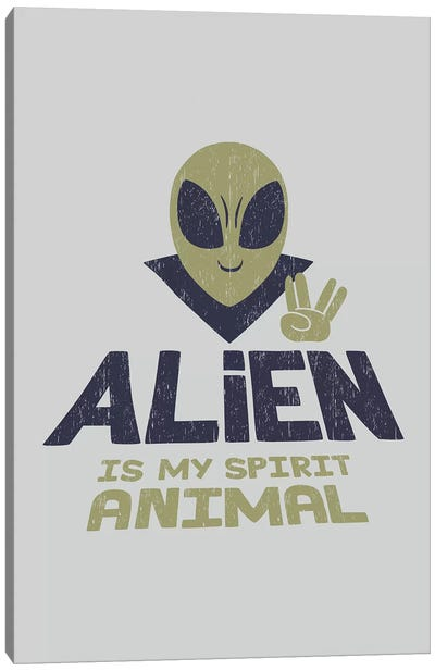 Alien Is My Animal Spirit Canvas Art Print