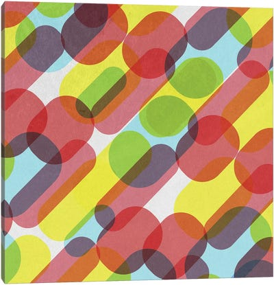 Bubble Burst Pattern Canvas Art Print