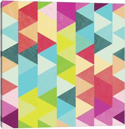 Bubblegum Triangles Pattern Canvas Art Print