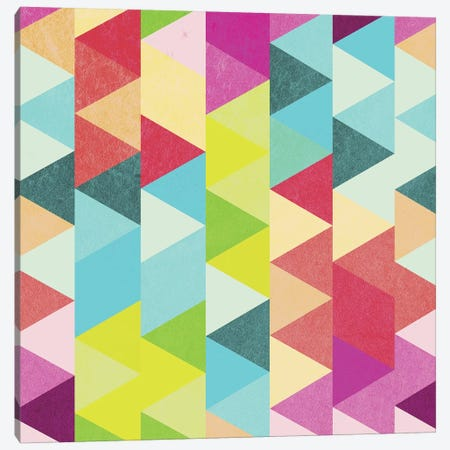 Bubblegum Triangles Pattern Canvas Print #TFA483} by Tobias Fonseca Canvas Print