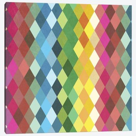 Diamond Color Spectrum Pattern Canvas Print #TFA485} by Tobias Fonseca Canvas Art