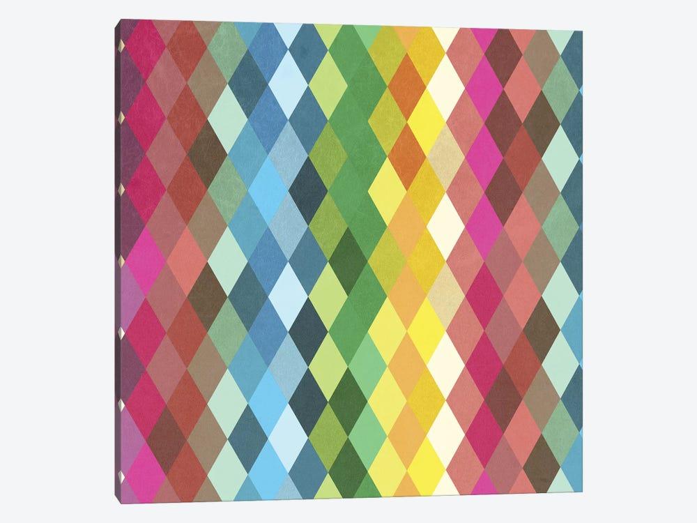 Diamond Color Spectrum Pattern by Tobias Fonseca 1-piece Canvas Art Print