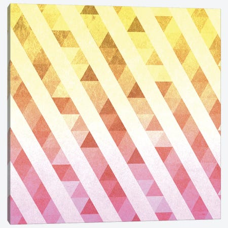 Triangles Lines Pattern Canvas Print #TFA487} by Tobias Fonseca Canvas Wall Art