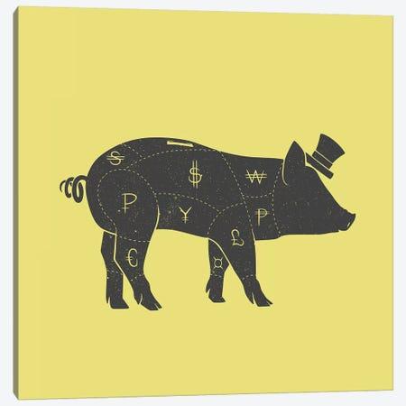 Piggy Bank Canvas Print #TFA488} by Tobias Fonseca Art Print