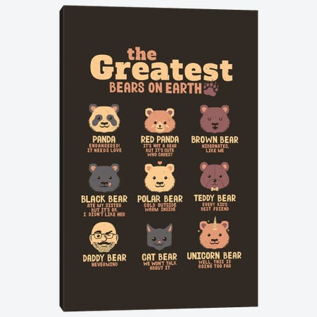 Greatest Bears Daddy Canvas Print #TFA490} by Tobias Fonseca Canvas Artwork