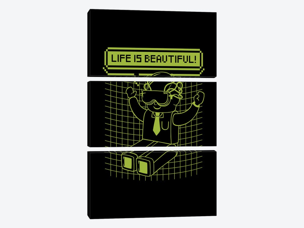 Life Is Beautiful by Tobias Fonseca 3-piece Canvas Art Print