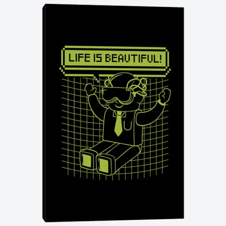 Life Is Beautiful Canvas Print #TFA506} by Tobias Fonseca Canvas Art Print